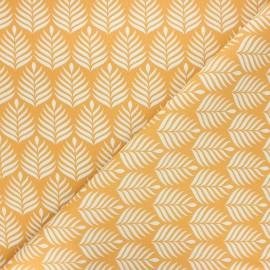 Cretonne cotton fabric - ochre Dypsis x 10cm
