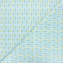 Cretonne cotton fabric - green Sylt x 10cm