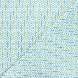 Tissu coton cretonne Sylt - vert x 10cm