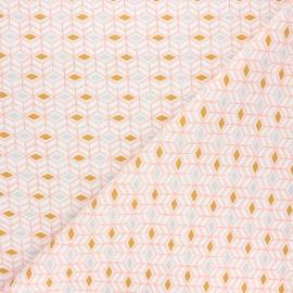 Tissu coton cretonne Sylt - orange x 10cm