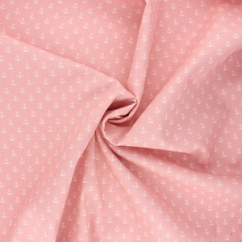 Poppy poplin cotton fabric - light pink Marine x 10cm