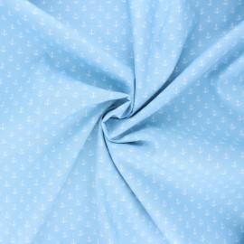 Tissu coton popeline Poppy Marine - bleu clair x 10cm