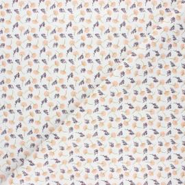Tissu coton cretonne Mollis - blanc x 10cm