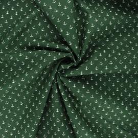 Poppy poplin cotton fabric - dark green Marine x 10cm