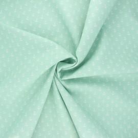 Tissu coton popeline Poppy Marine - opaline x 10cm
