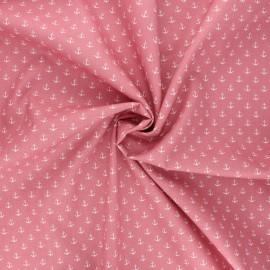 Poppy poplin cotton fabric - tea pink Marine x 10cm