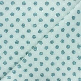 Cretonne cotton fabric - opaline Tourbillon x 10cm