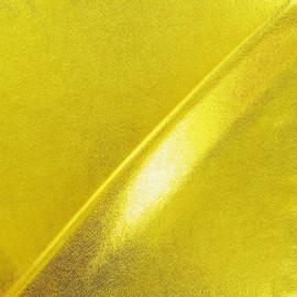 Powdered lycra fabric - yellow x 10cm
