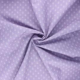 Tissu coton popeline Poppy Marine - parme x 10cm