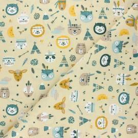 Tissu coton cretonne Powhatan - sable x 10cm