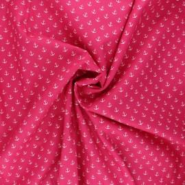 Poppy poplin cotton fabric - candy pink Marine x 10cm