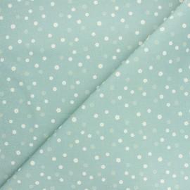 Tissu coton cretonne Daisy - vert eucalyptus x 10cm