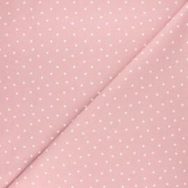 Tissu coton cretonne Dot - vieux rose x 10cm