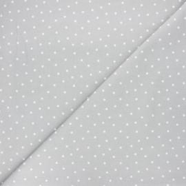 Tissu coton cretonne Dot - gris clair x 10cm