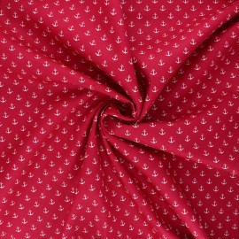 Poppy poplin cotton fabric - fuchsia Marine x 10cm