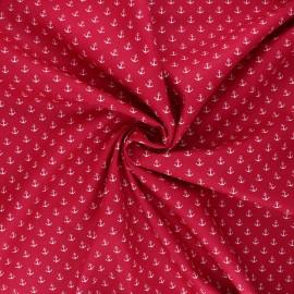 Tissu coton popeline Poppy Marine - fuchsia  x 10cm
