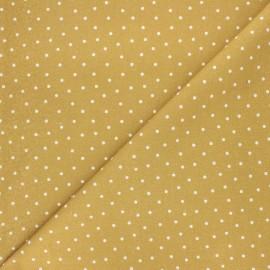 Tissu coton cretonne Dot - ocre x 10cm