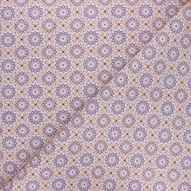 Cretonne cotton fabric - purple Canaletes x 10cm