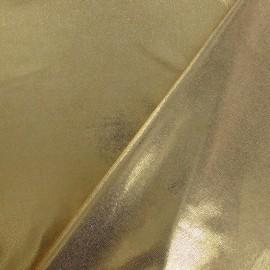Tissu Lycra poudré doré x 10cm