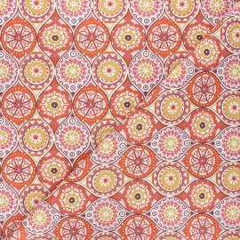 Cretonne cotton fabric - rust Gema x 10cm