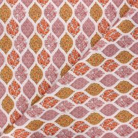 Cretonne cotton fabric - pink Ambar x 10cm