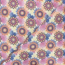 Cretonne cotton fabric - yellow Cadix x 10cm
