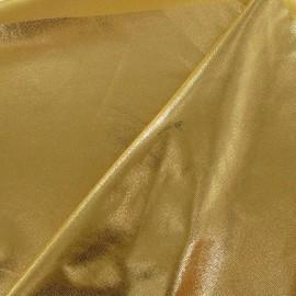Tissu Lycra poudré or jaune x 10cm