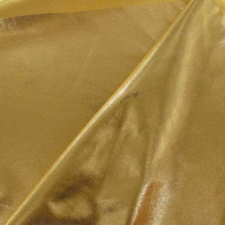 Powdered lycra fabric - yellow/golden x 10cm
