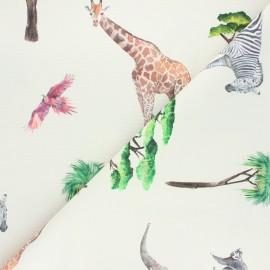 Tissu toile de coton On safari - écru x 40cm