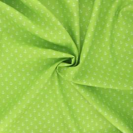 Poppy poplin cotton fabric - light green Marine x 10cm