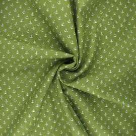 Poppy poplin cotton fabric - moss green Marine x 10cm