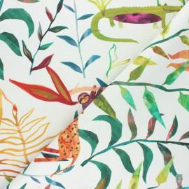 Cotton canvas fabric - raw Hide & seek x 50cm