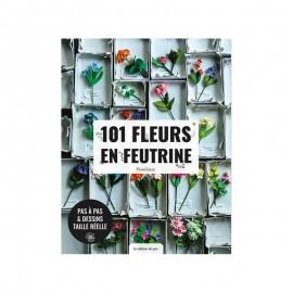 """Livre """"101 fleurs en feutrine"""""""