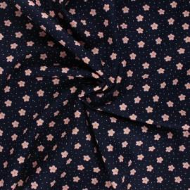 Tissu coton popeline Poppy Lovely rainbow story - bleu nuit x 10cm