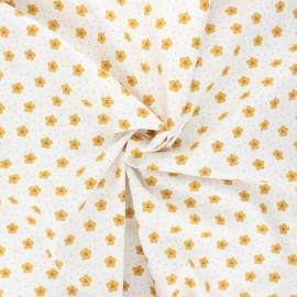 Tissu coton popeline Poppy Lovely rainbow story - blanc x 10cm