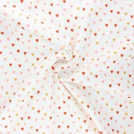Poppy poplin cotton fabric - white Lovely rainbow story B x 10cm