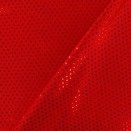 Plumetis lycra fabric - red x 10cm