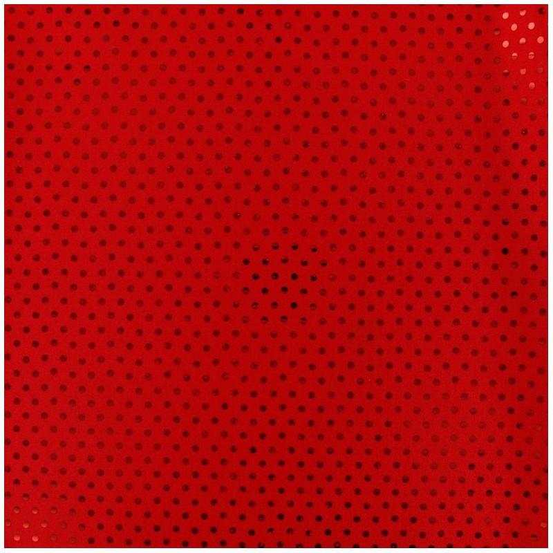 Tissus pas cher tissu lycra plumetis rouge - Tissus rouge pas cher ...