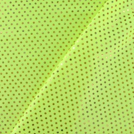 Plumetis lycra fabric - yellow x 10cm