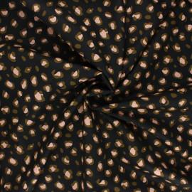 Poppy poplin cotton fabric - black Animal skin x 10cm