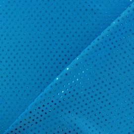 Tissu Lycra Plumetis turquoise x 10cm
