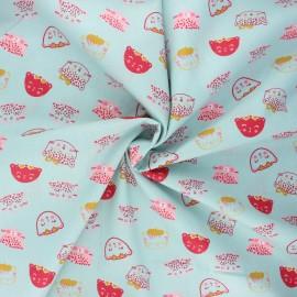 Tissu coton popeline Poppy Chic cats - vert sauge x 10cm