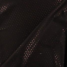Tissu Lycra Plumetis chocolat x 10cm