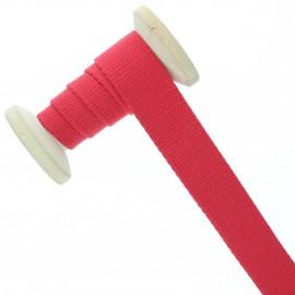 Sangle coton 23 mm - rouge vif - bobine de 15 m