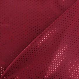 Plumetis lycra fabric - garnet x 10cm