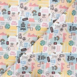 Tissu coton cretonne Women love - blanc x 10cm
