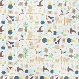 Tissu coton cretonne Potter lifestyle - blanc x 10cm