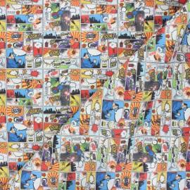 Tissu coton cretonne Comics superman - blanc x 10cm