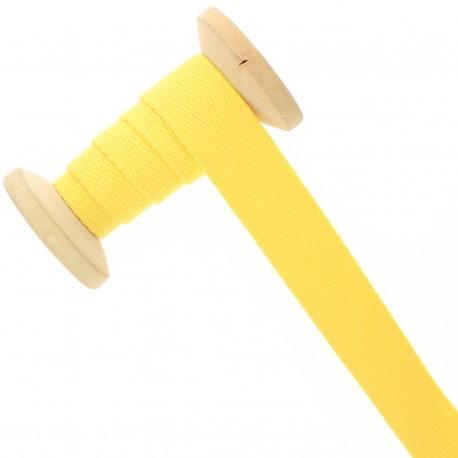 23 mm plain cotton Strap roll - lemon yellow