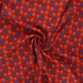 Tissu viscose Viviane - rouge x 10cm
